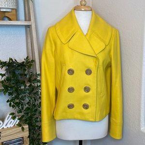 J Crew yellow blazer coat